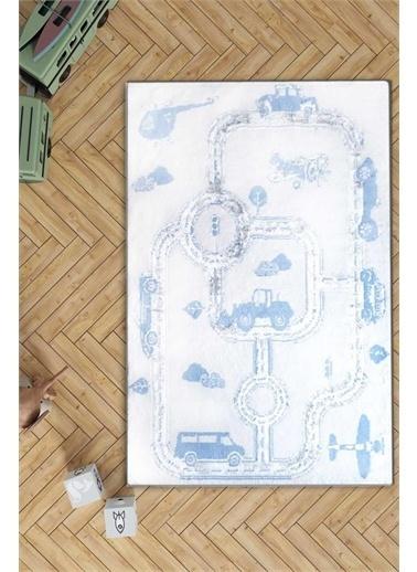 HC&W Kids Çocuk Halısı 100x160 cm - Cards Mavi Mavi